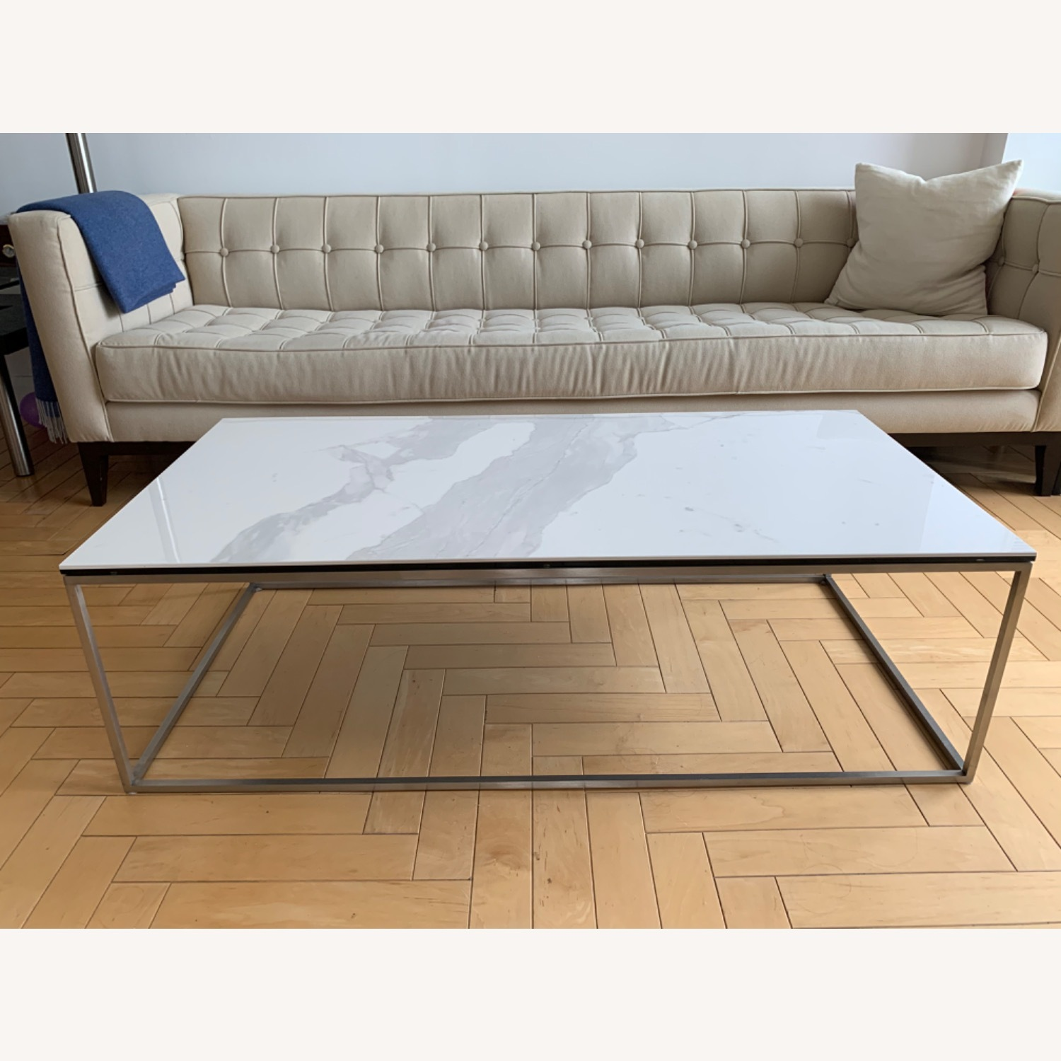 Room & Board White Coffee Table - image-1
