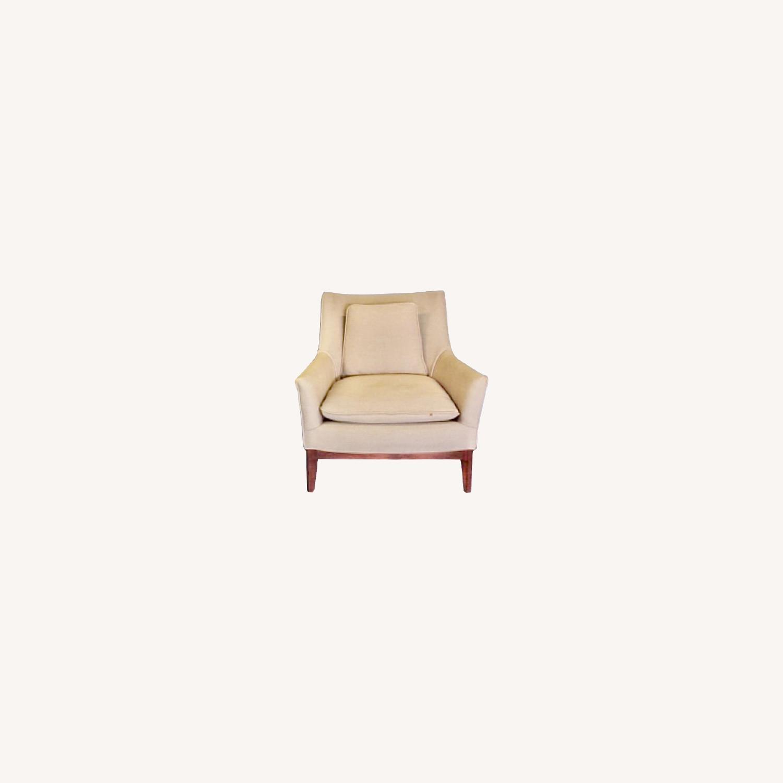 Pair of Mid Century Danish Upholstered Armchairs - image-0