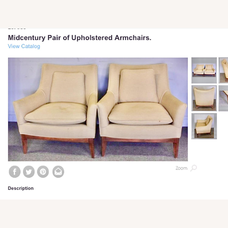 Pair of Mid Century Danish Upholstered Armchairs - image-1