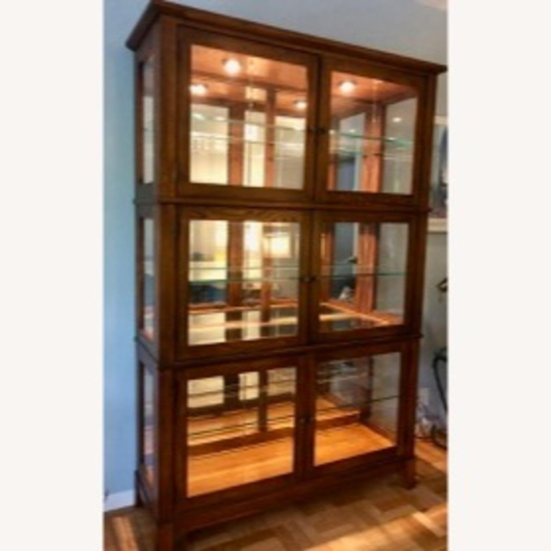 Thomasville Oak China Cabinet - image-3