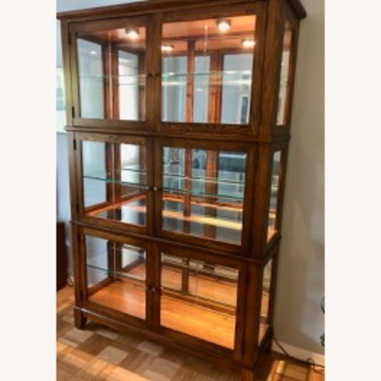 Thomasville Oak China Cabinet - image-1
