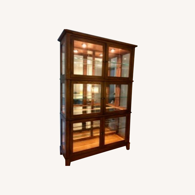 Thomasville Oak China Cabinet - image-0