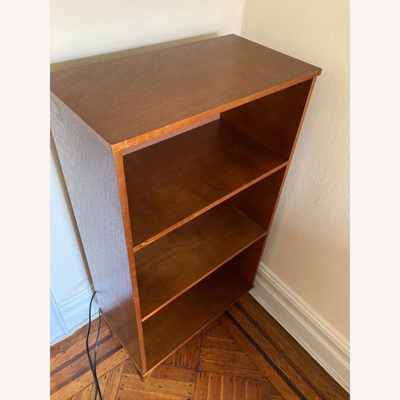 Image of: Target Mid Century Modern Low Wood Bookshelf Aptdeco