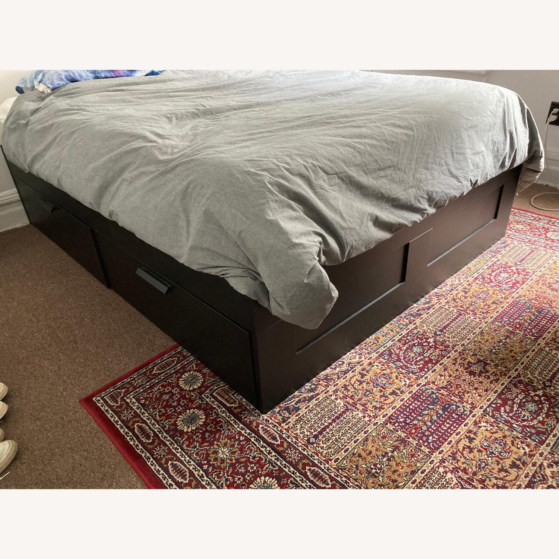 IKEA Brimnes Bed Frame with Storage - image-1