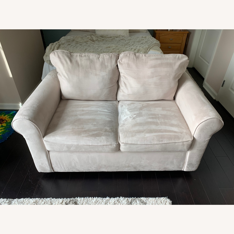 Wayfair Rolled Arm Microfiber Sofa - image-1