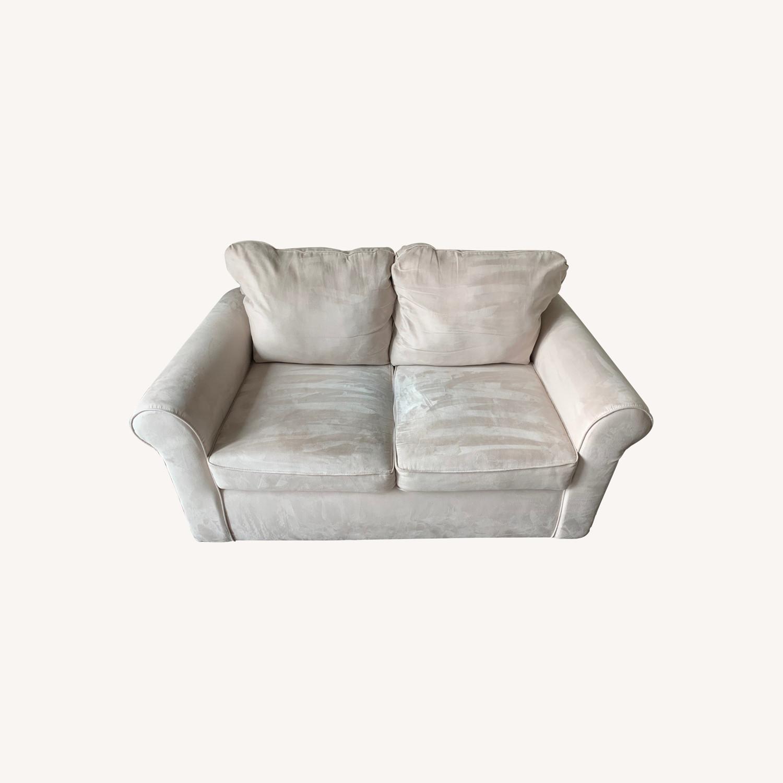 Wayfair Rolled Arm Microfiber Sofa - image-0