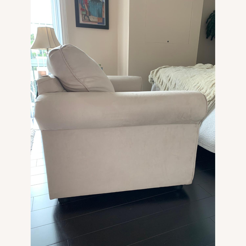 Wayfair Rolled Arm Microfiber Sofa - image-3