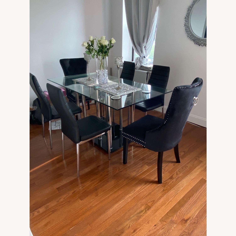 Raymour & Flanigan Chic Glass Dining Set - image-2