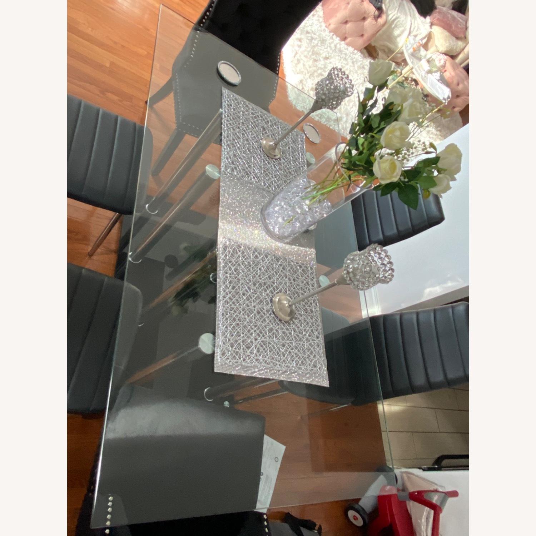 Raymour & Flanigan Chic Glass Dining Set - image-3