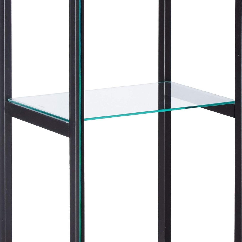 Curio Cabinet W/ 4-Tier Shelves In Black Finish - image-1