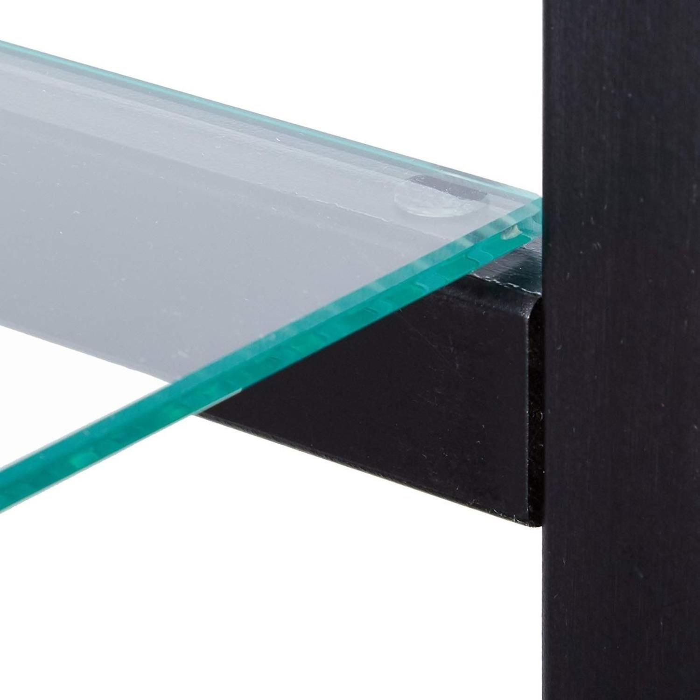 Curio Cabinet W/ 4-Tier Shelves In Black Finish - image-2