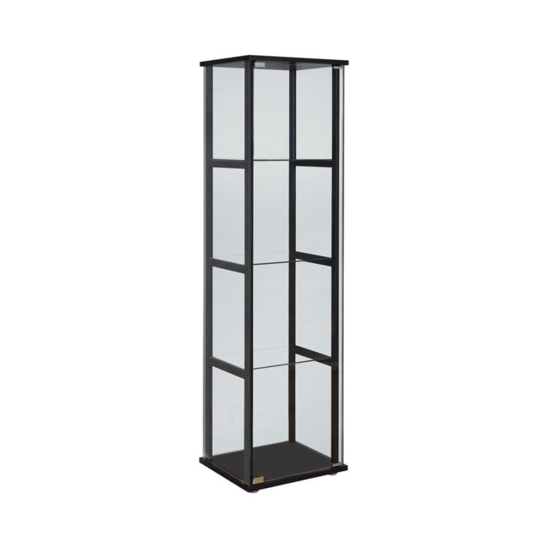 Curio Cabinet W/ 4-Tier Shelves In Black Finish - image-0