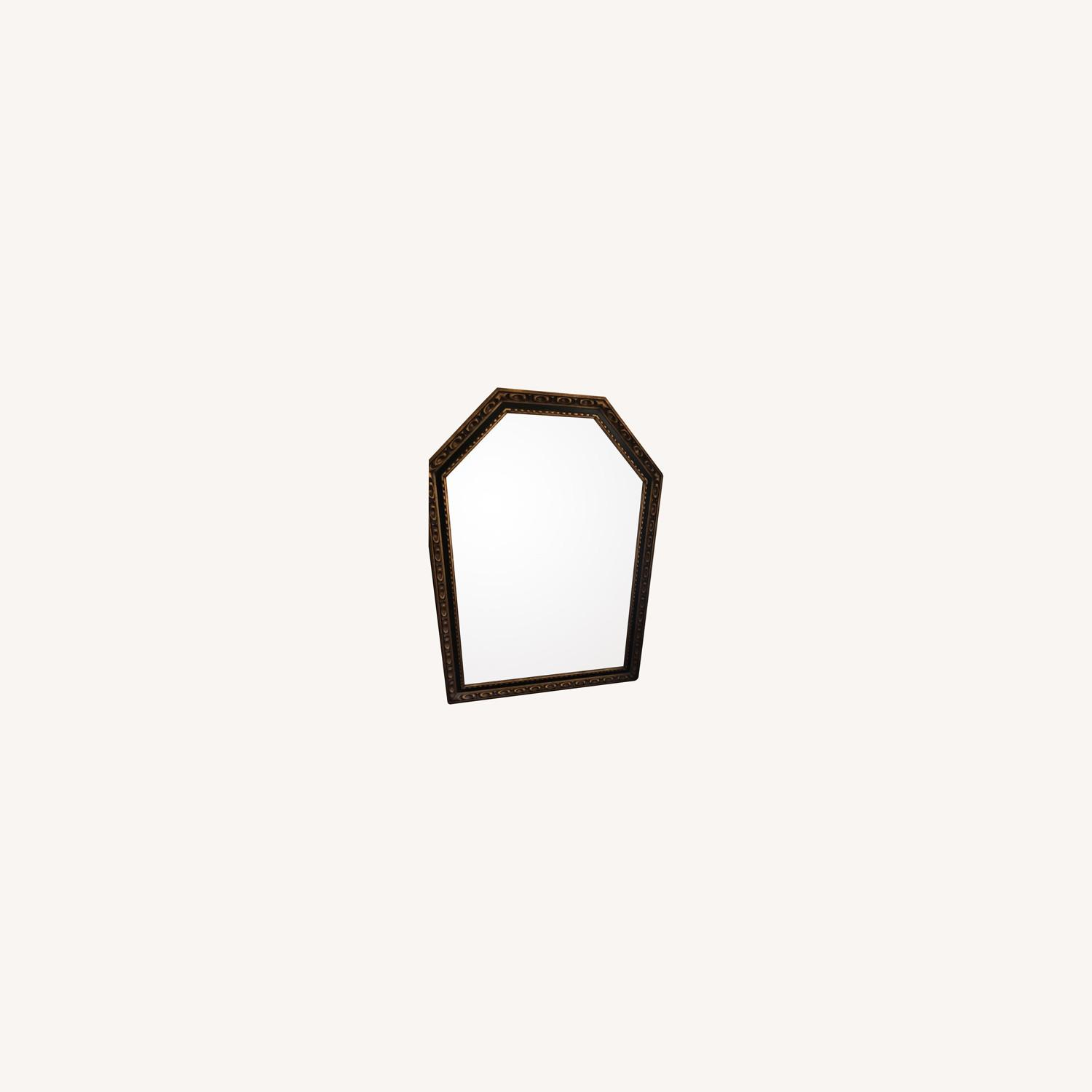 1960s Black and Gold Wood Mirror - image-0