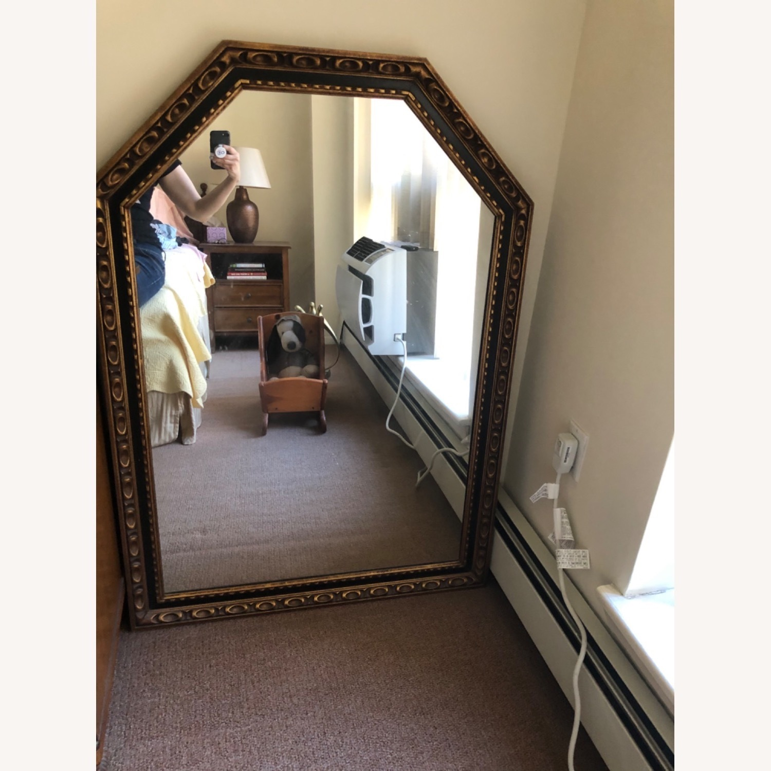 1960s Black and Gold Wood Mirror - image-3