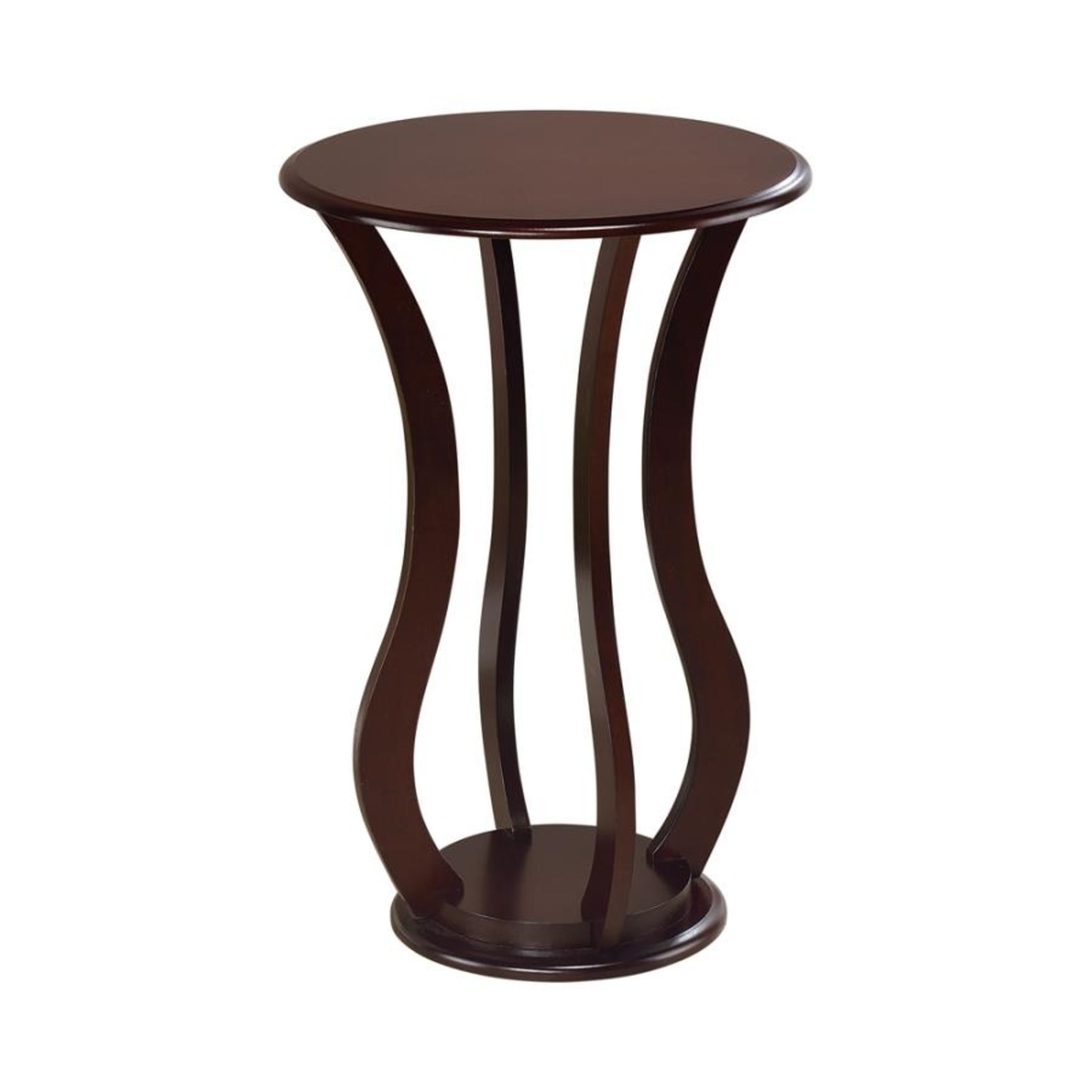 Accent Table In Cherry Finish W/ Bottom Shelf - image-0