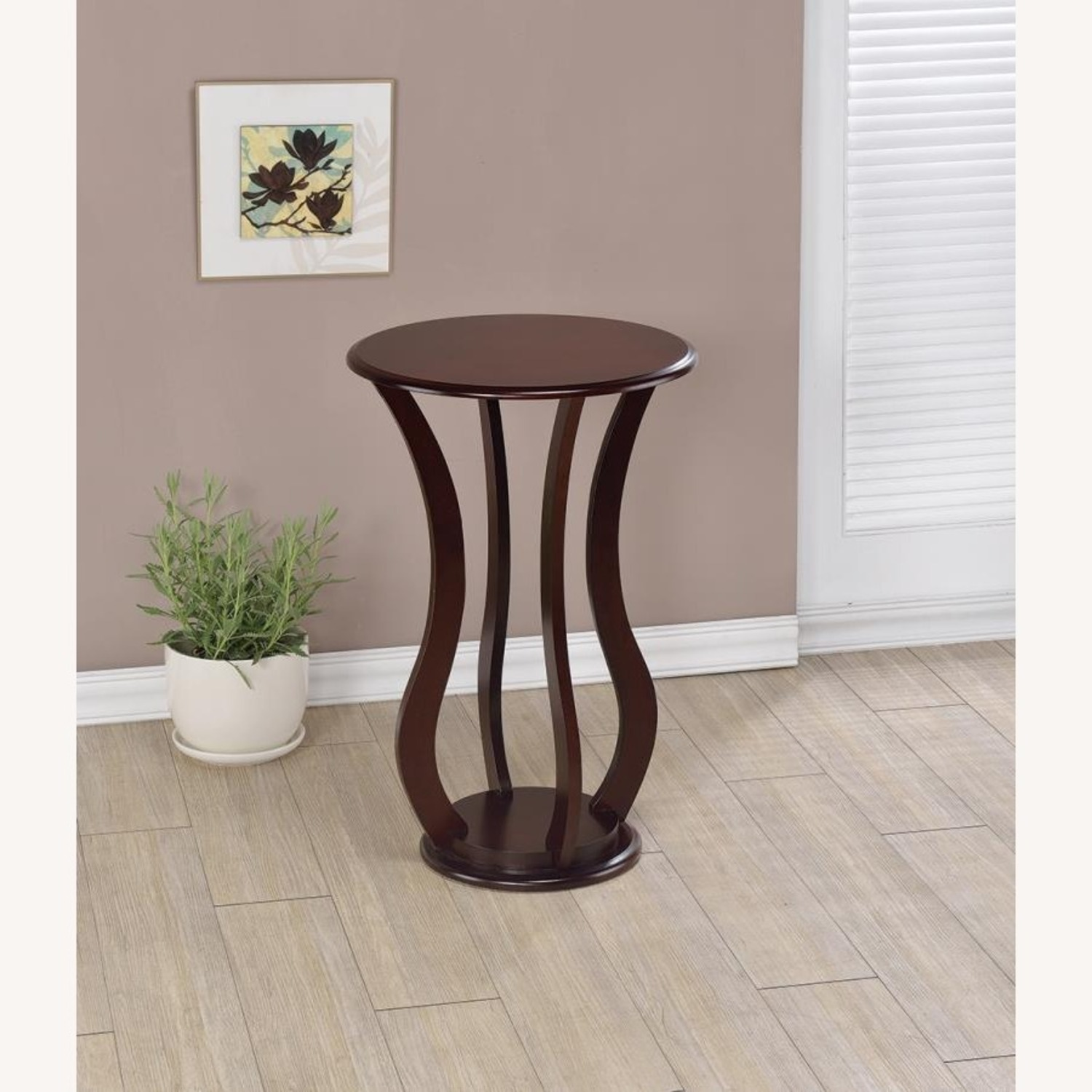 Accent Table In Cherry Finish W/ Bottom Shelf - image-2
