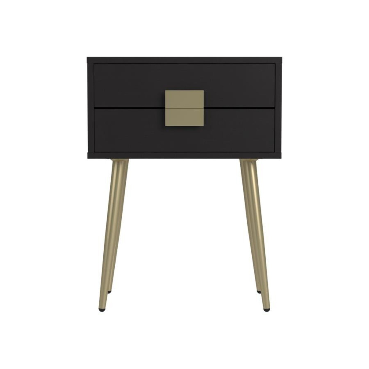 Accent Table In Cappuccino & Matte Brass Finish - image-2