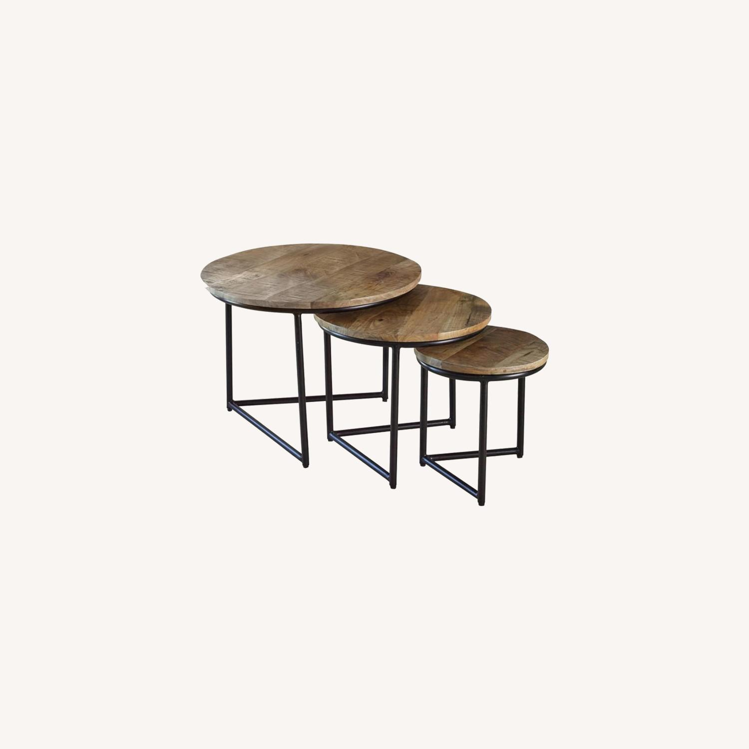 3-Piece Nesting Table In Natural Sheesham Grey - image-3