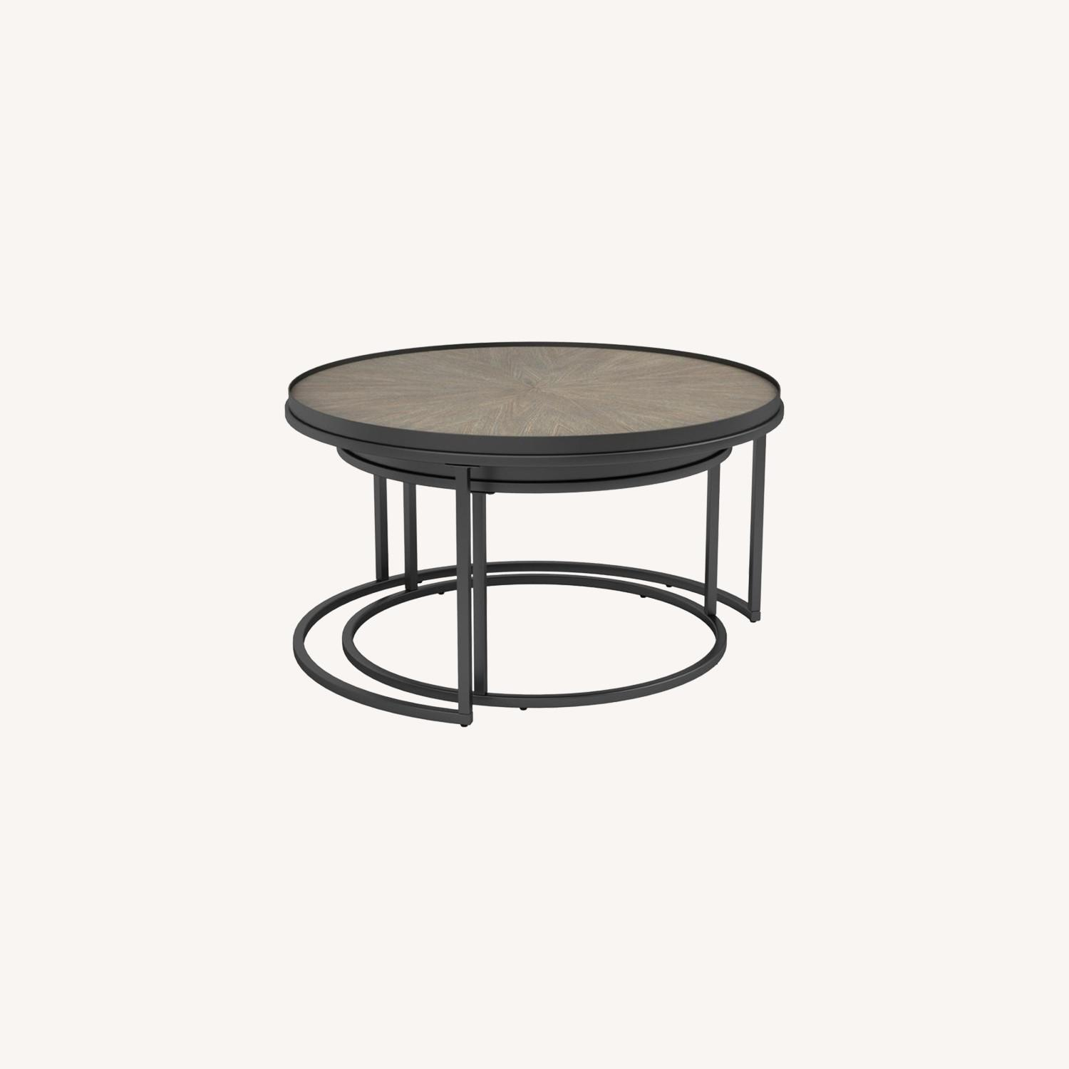 2-Piece Nesting Table In Weathered Elm Finish - image-4