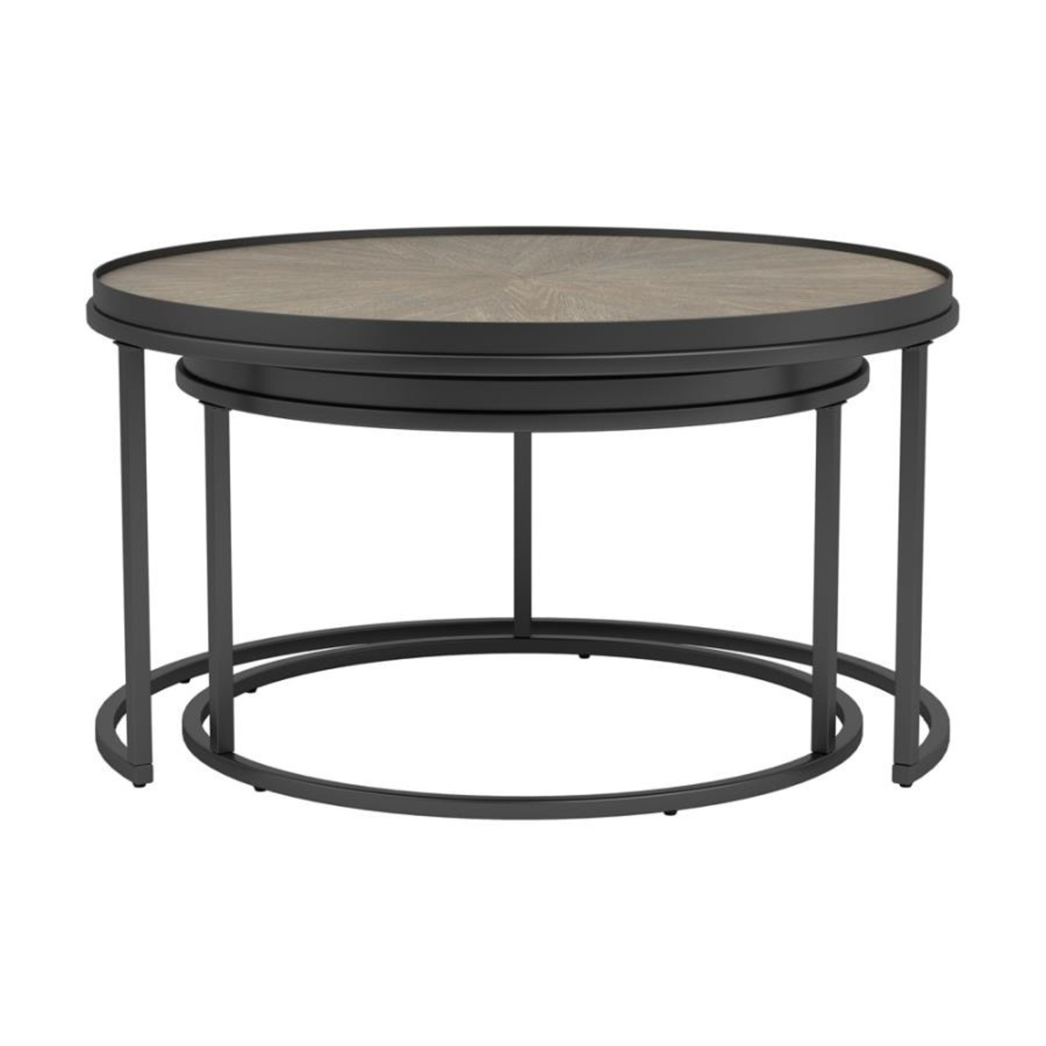 2-Piece Nesting Table In Weathered Elm Finish - image-2
