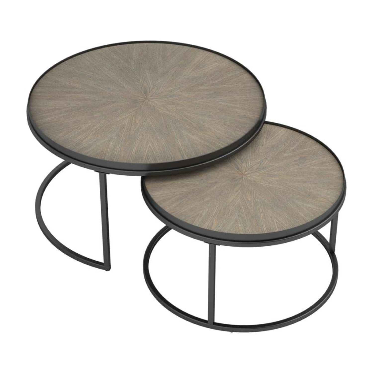 2-Piece Nesting Table In Weathered Elm Finish - image-0