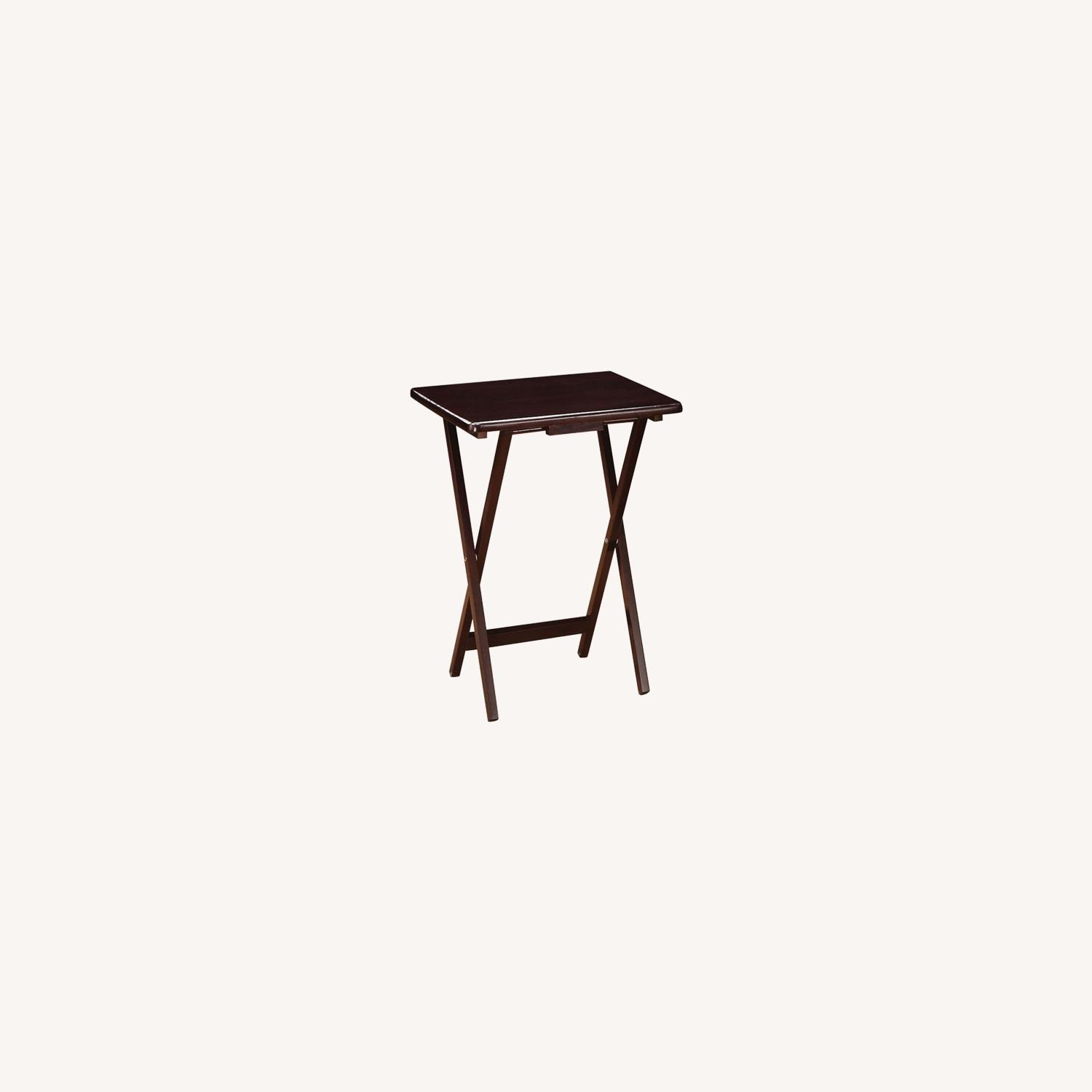 5-Piece Tray Table In Cappuccino Finish - image-3
