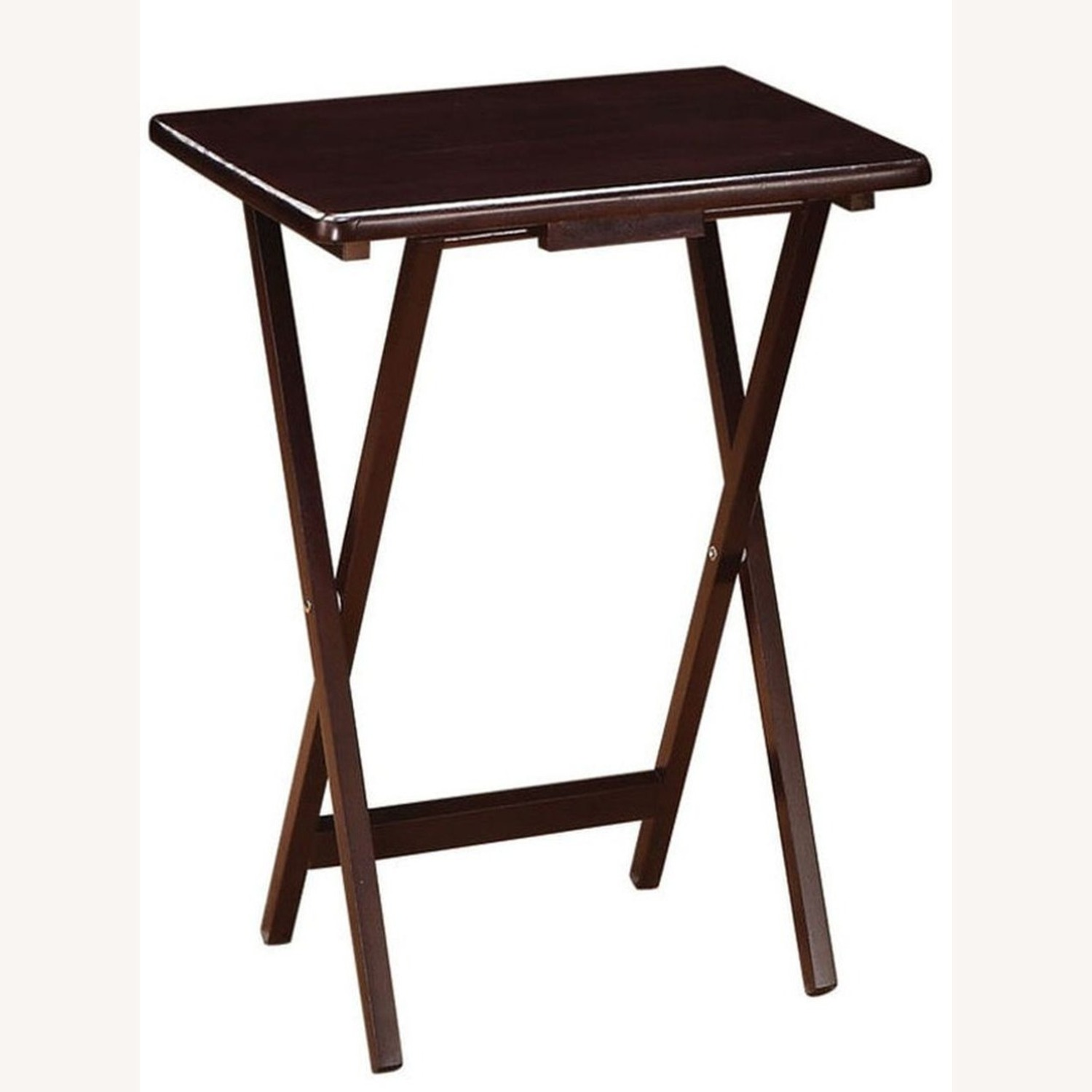 5-Piece Tray Table In Cappuccino Finish - image-2