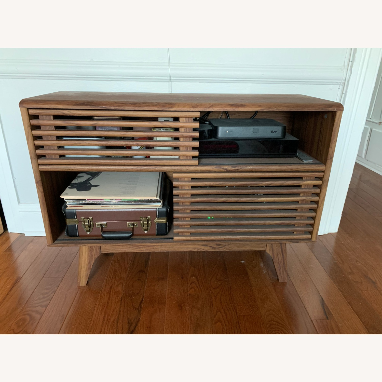 Natural Wood Modern TV Console - image-1