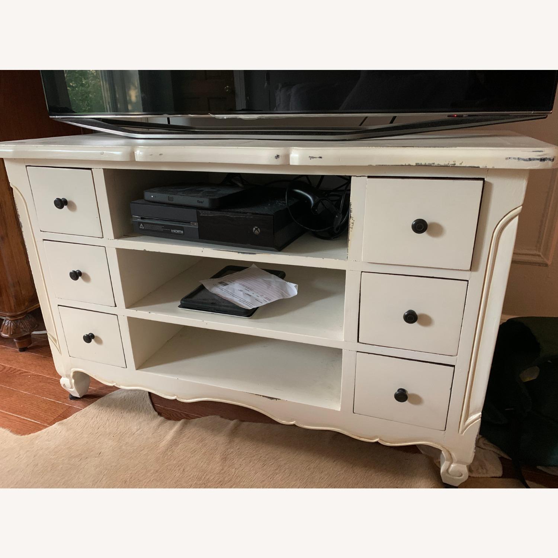 Custom White TV/ Media Console - image-1