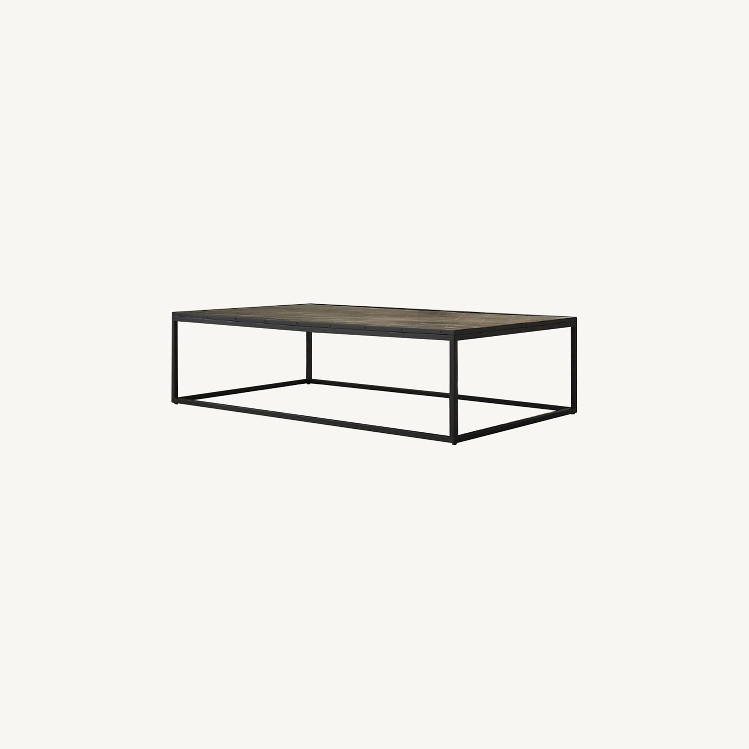 Restoration Hardware Metal Parquet Coffee Table - image-0