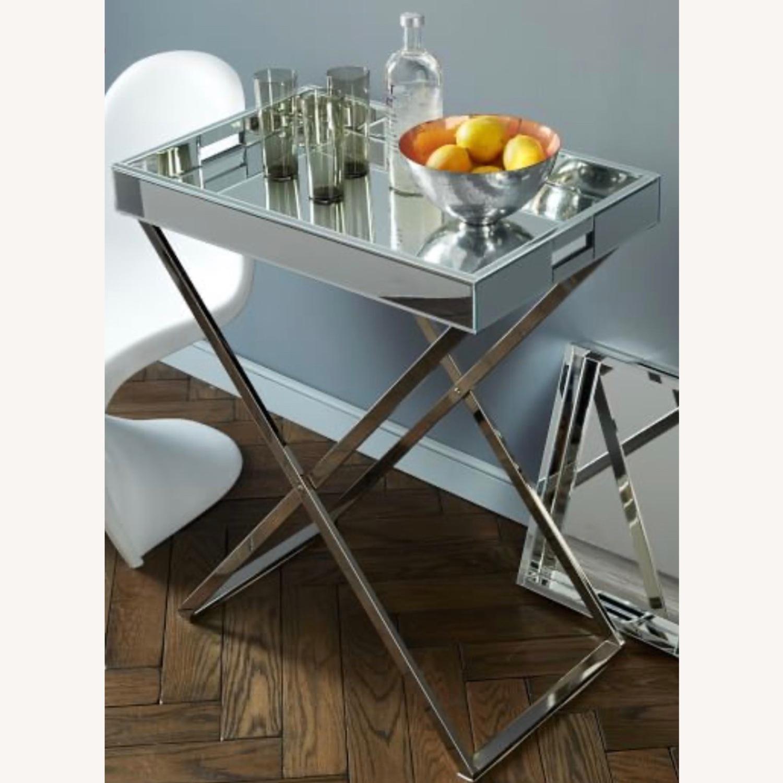 West Elm Butler Bar Cart Set - Mirror Tray - image-0