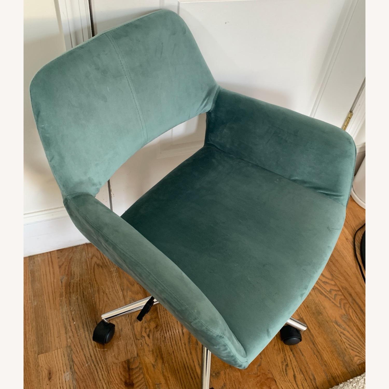 Wayfair Light Turquoise Velvet Task Chair - image-2