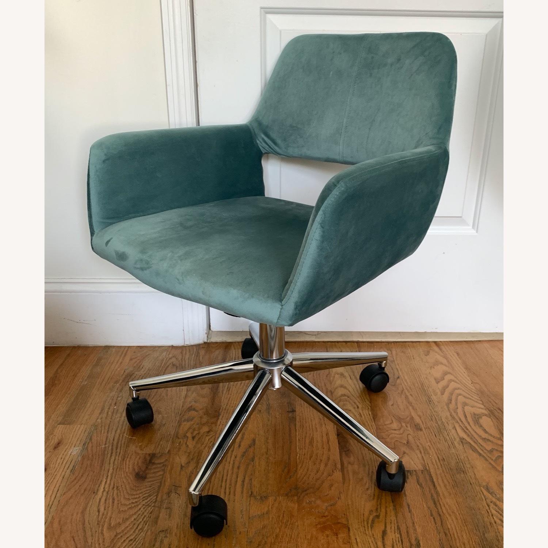 Wayfair Light Turquoise Velvet Task Chair - image-1