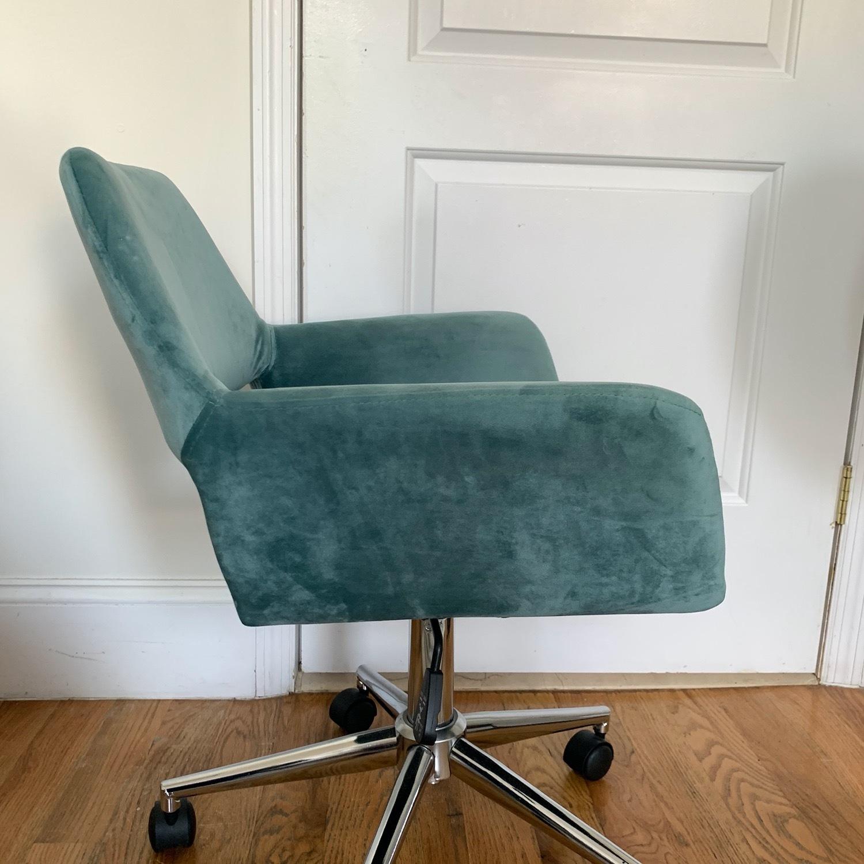 Wayfair Light Turquoise Velvet Task Chair - image-5