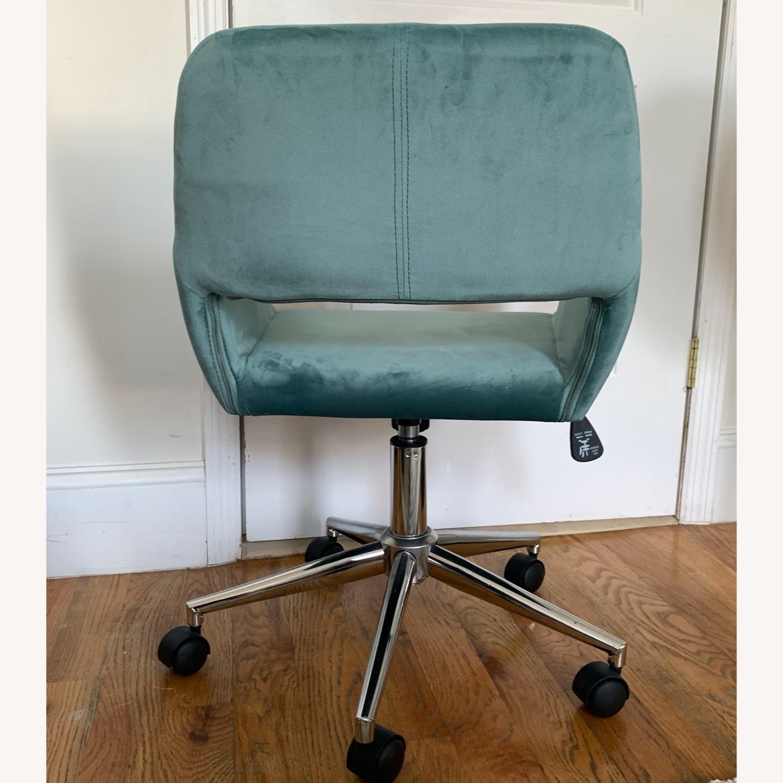 Wayfair Light Turquoise Velvet Task Chair - image-3