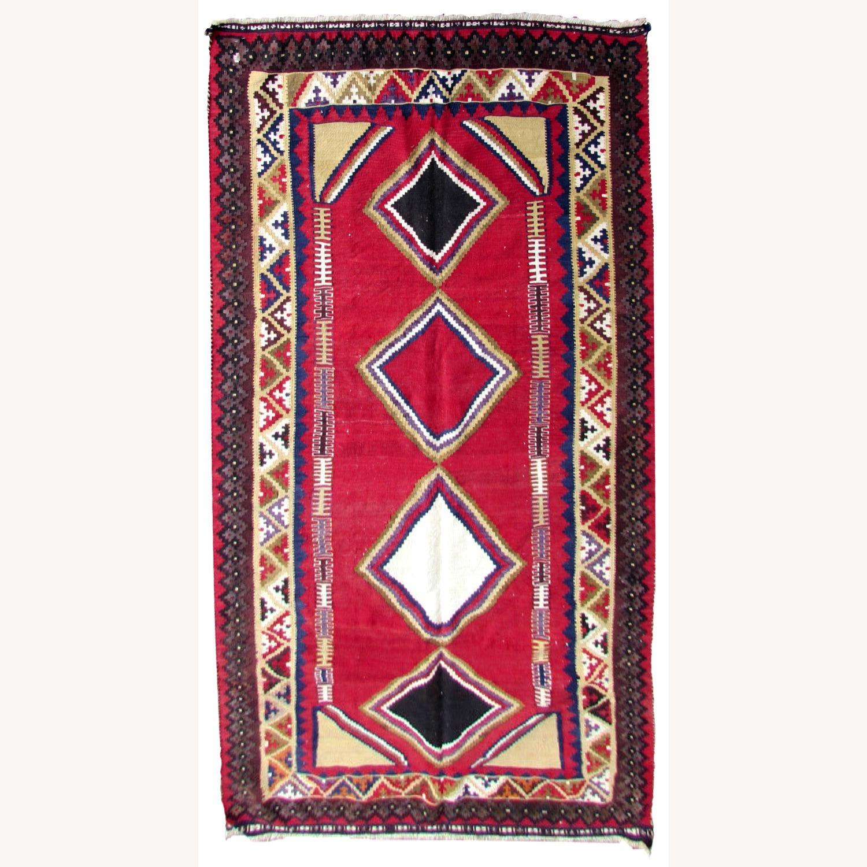 Handmade vintage Persian Ardabil kilim - image-1