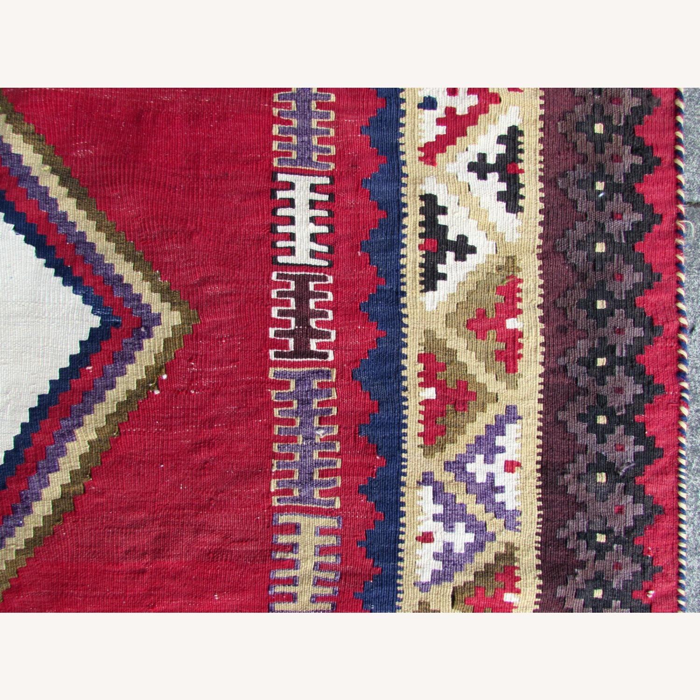 Handmade vintage Persian Ardabil kilim - image-4