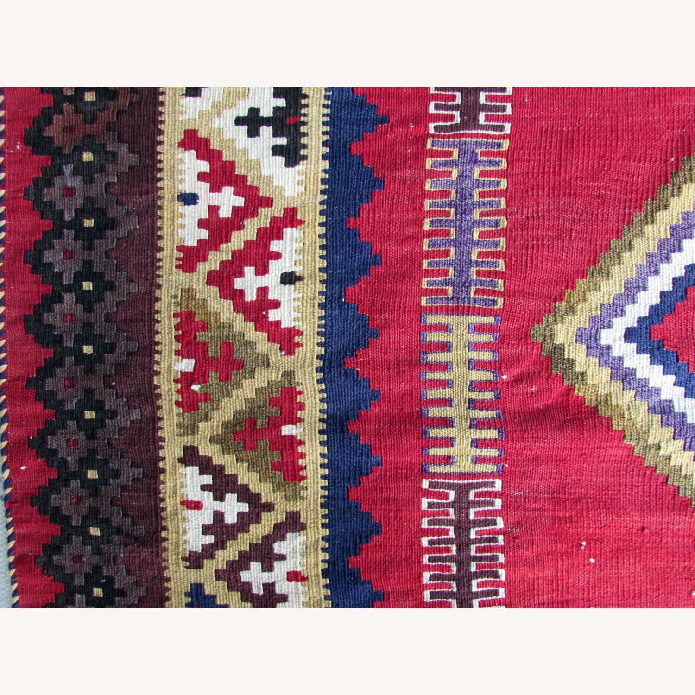 Handmade vintage Persian Ardabil kilim - image-10