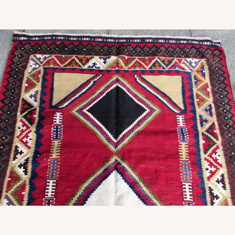 Handmade vintage Persian Ardabil kilim - image-11