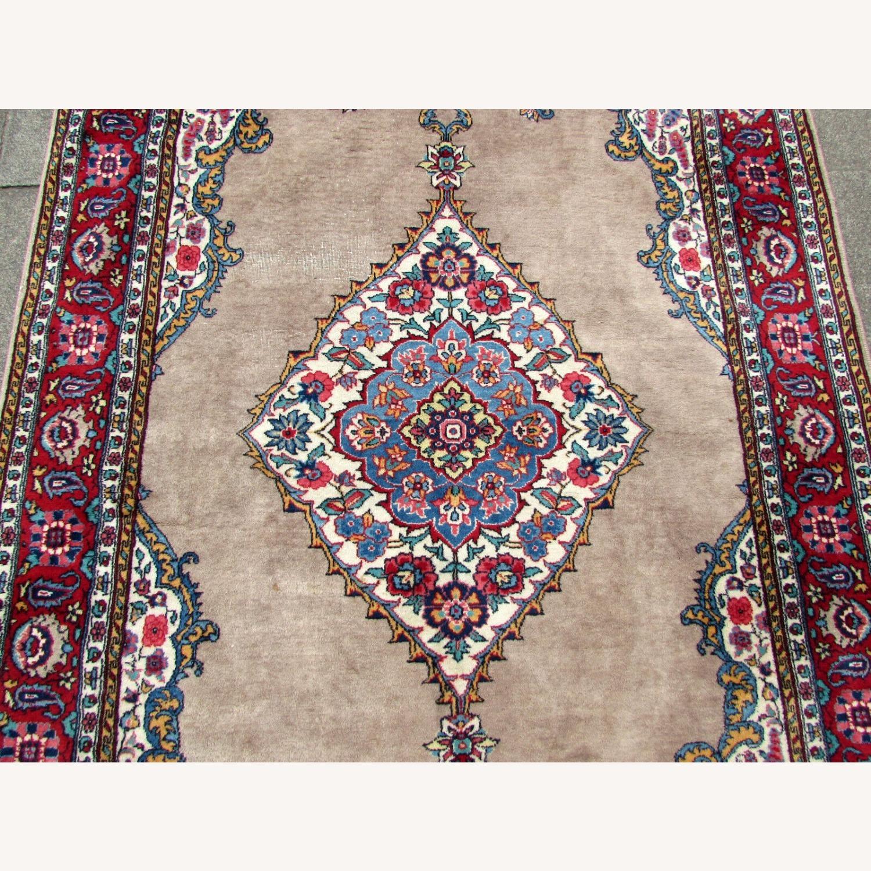 Handmade antique Persian Malayer rug - image-3