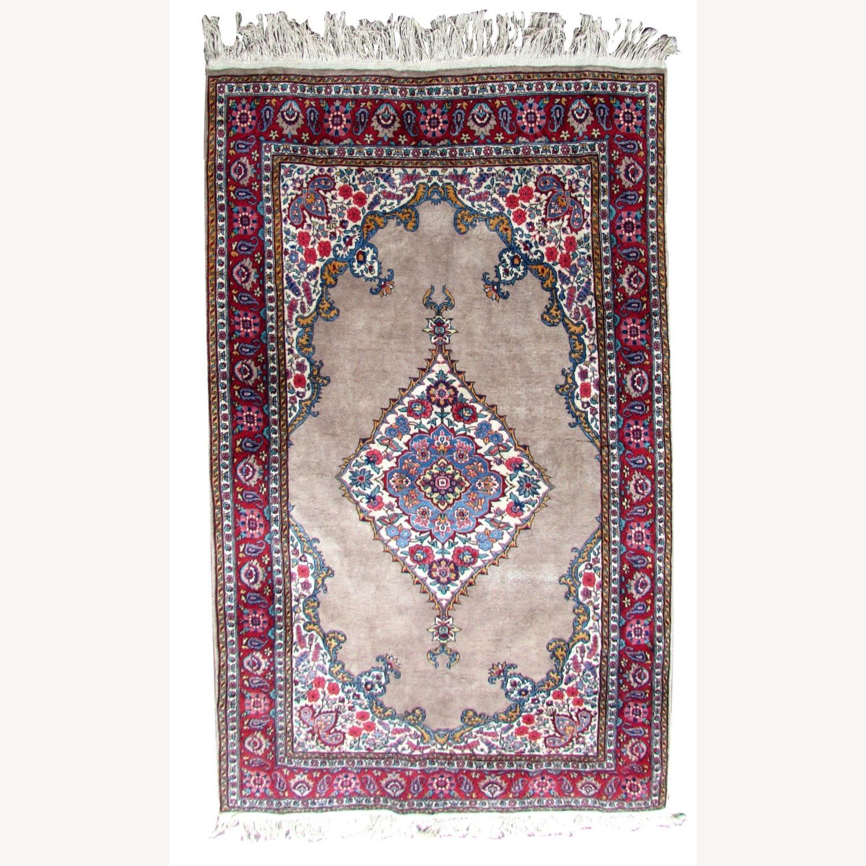 Handmade antique Persian Malayer rug - image-1