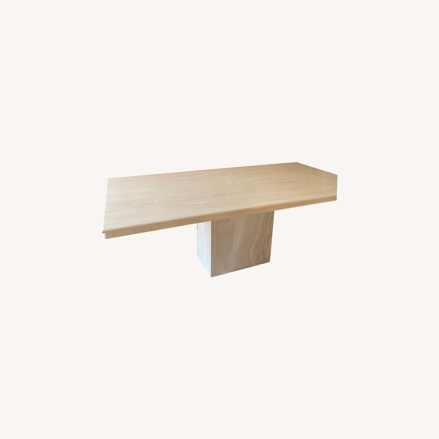 Marble Travetine Dining Table - image-0
