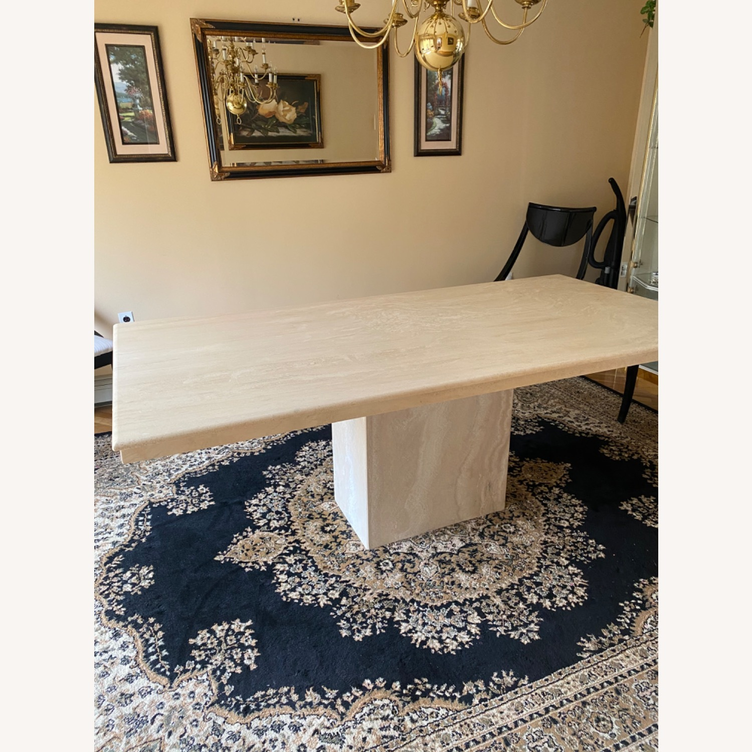 Marble Travetine Dining Table - image-2