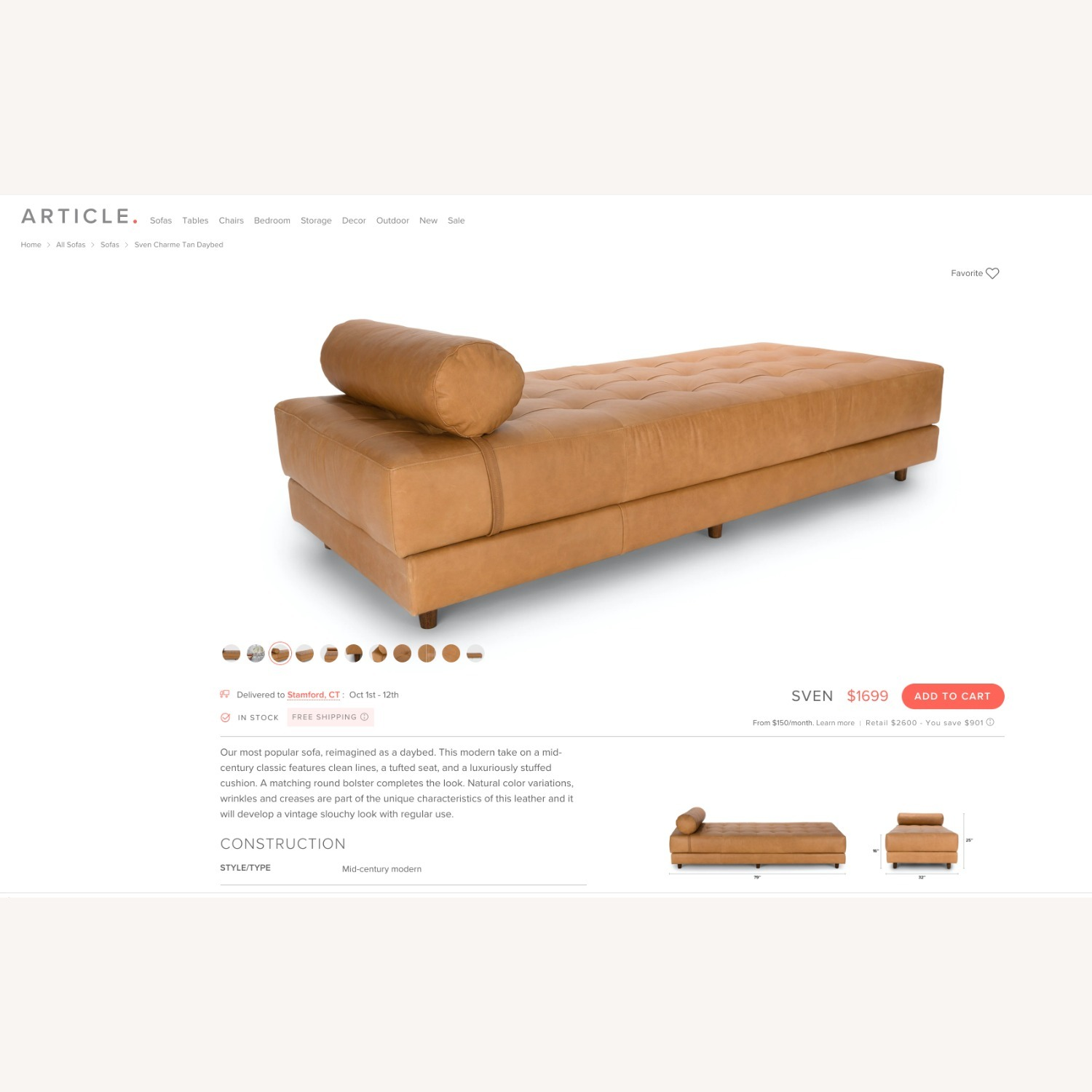 Article Sven Modern Daybed - image-3