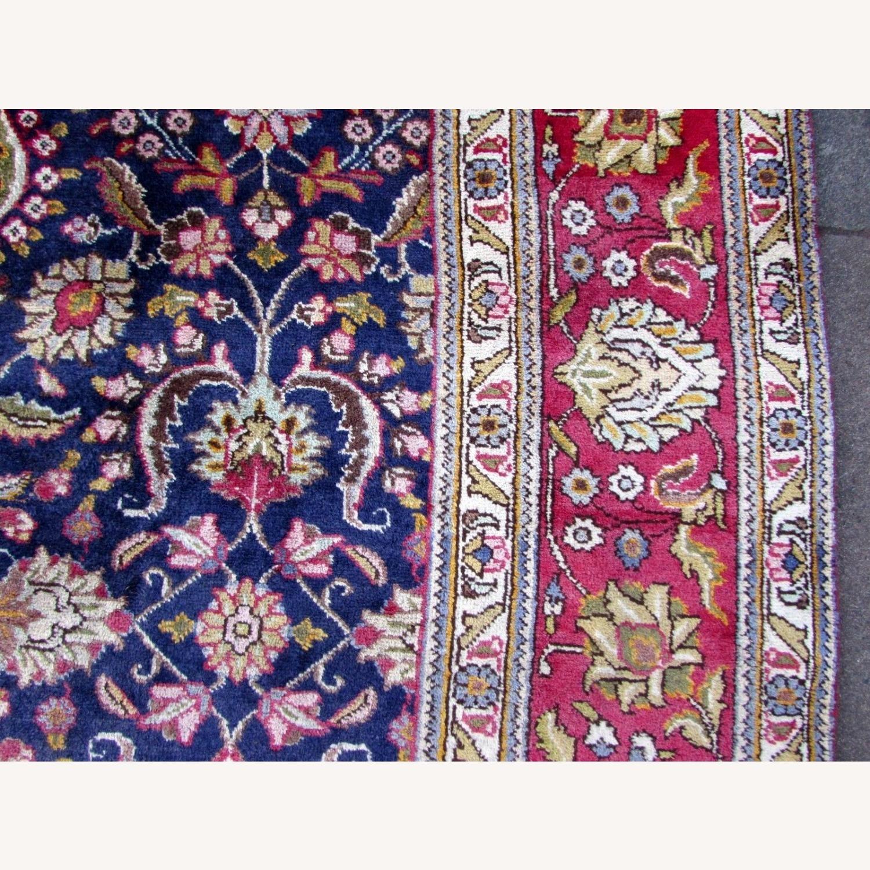 Handmade vintage Persian Mashad rug - image-12