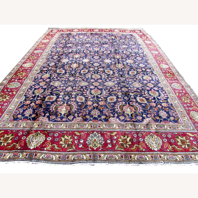Handmade vintage Persian Mashad rug - image-1