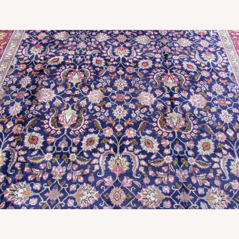 Handmade vintage Persian Mashad rug - image-7
