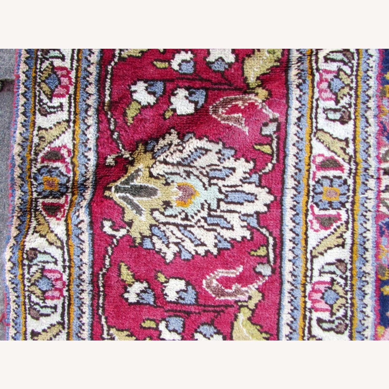 Handmade vintage Persian Mashad rug - image-3