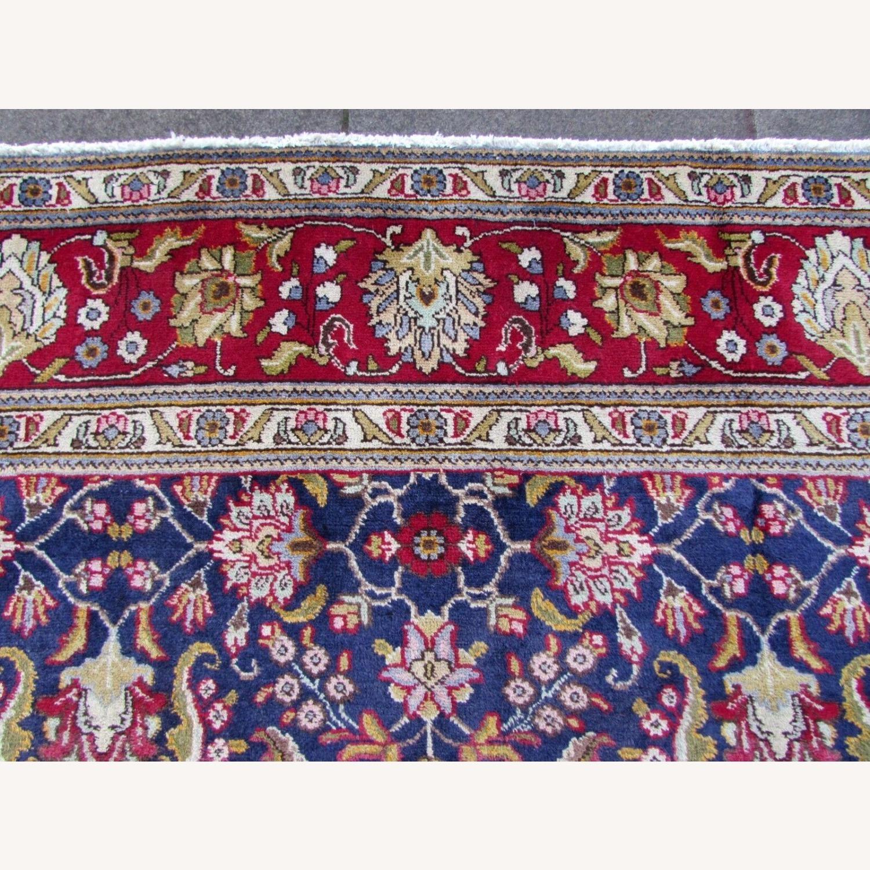 Handmade vintage Persian Mashad rug - image-9