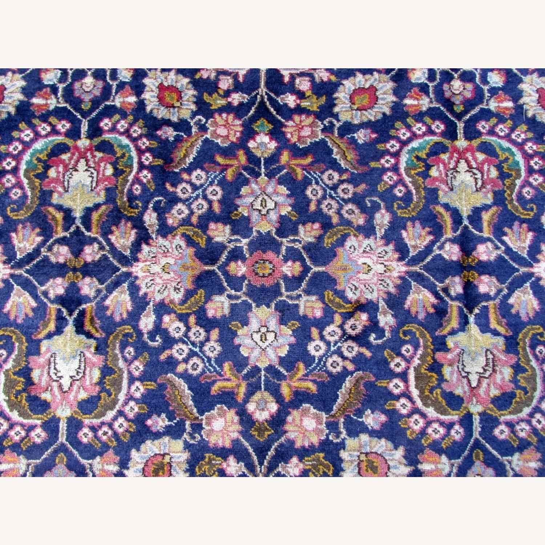 Handmade vintage Persian Mashad rug - image-11
